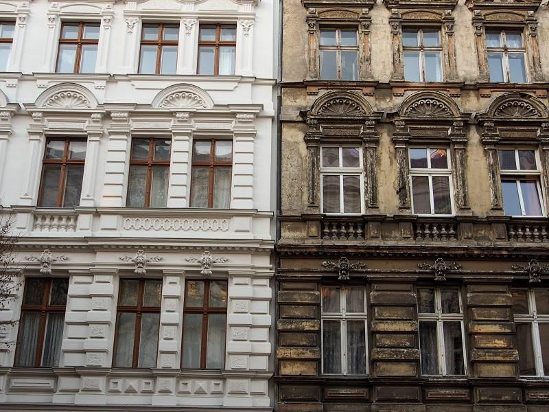 Denkmalschutzimmobilie vorher - nacher